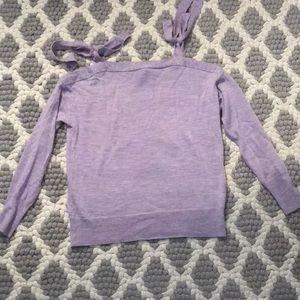 JCrew lavender tie top sweater